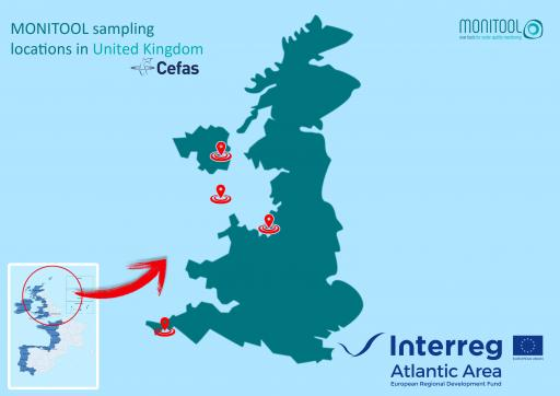 United Kingdom sampling locations